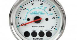 Тахометр 7000 об/мин, Suzuki, белый